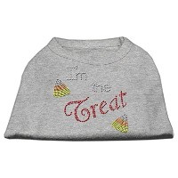I'm the Treat Rhinestone Dog Shirt Grey XXXL (20)