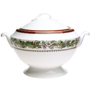 SpodeクリスマスローズCovered Soup Tureen