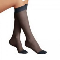 BI119423 - Bsn Jobst UltraSheer Womens Knee-High Moderate Compression Stockings Large, Black by...