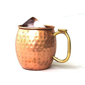 StreetクラフトハンドメイドPure Copper Moscow Mule Mug Thumbs handle-16 Oz 16 oz SCI-CTSMM-10002