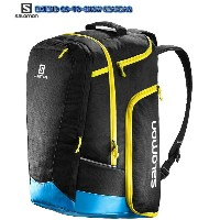 ブーツバック【SALOMON】サロモン EXTEND GO-TO-SNOW GEAR BAG 50L BLACK/PROCESS BLUE/CORONA YELLOW ウォータープルーフ 送料無料...