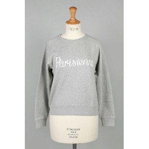 【30%OFF!】SWEAT SHIRT PARISIENNE -GREY MELANGE (FW17W706-GRM) MAISON KITSUNE -Women-(メゾン・キツネ)