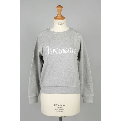 SWEAT SHIRT PARISIENNE -GREY MELANGE (FW17W706-GRM) Maison Kitsune -Women-(メゾン・キツネ)