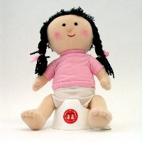 Once Upon A Potty Plush Doll Set With Mini-Potty - Girl by Once Upon a Potty
