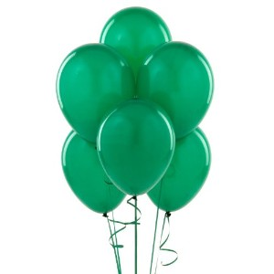 Party Supplies - Emerald Green Latex Balloons (6) by BirthdayExpress