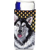 Alaskan Malamute Candy Corn Halloween Ultra Beverage Insulators forスリム缶sc9496muk