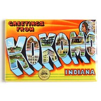 Greetings from Kokomo Indiana Fridge Magnet (2.5 x 3.5 inches) by Blue Crab Magnets
