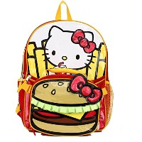 "Hello Kitty Burger & Fries 16 ""バックパックand Insulated Lunchバッグ – キッズ"