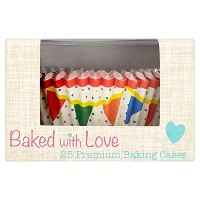 Bunting Cupcake Cases by Baked with Love - Pack of 25