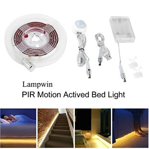 lampwin 2- Packベッド下モーションセンサーライトキットwith 5ft Battery Powered Motion Activated LEDストリップライトイルミネーション...