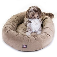 52 inch Stone Suede Bagel Dog Bed By Majestic Pet Products by Majestic Pet