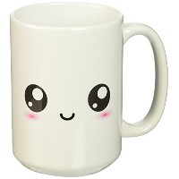 3dローズInspirationzStore Kawaii Smileys – White Cute Smiley Square – Adorable and Kawaii Cartoony...