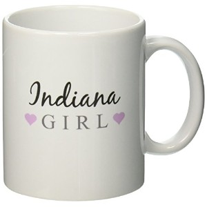 3dローズInspirationzStoreタイポグラフィ – Indiana Girl – Home State Pride – USA – United States of America –...