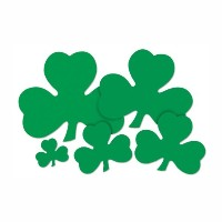 Beistle 33760 – 12 36-pack Decorative Printed Shamrock Cutouts 5-Inch グリーン 33760-5