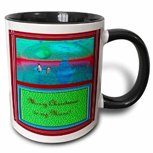 3dローズBeverly Turnerクリスマスデザイン – Penguinland 3d Merry Christmas to My姪 – マグカップ 11 oz ホワイト mug_22453_4