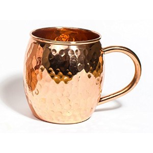 Street Craft Hammered CopperバレルMug for Moscowミュール16oz 16-Ounce ブラウン SCI-CMM-10013