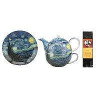 Van Gogh Starry Night Tea for One in a Matchingギフトボックスと6ティーバッグ、バンドル2アイテム