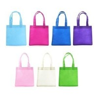 Wish You Have A Nice dayvassorted色24pcs Small不織布再利用可能なKids Carrying /ショッピング/ Grocery Tote Bag for...