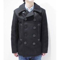 BUZZ RICKSON'S WILLIAM GIBSON COLLECTION ブラックピーコート『36oz.WOOL MELTON BLACK PEA COAT』【アメカジ・ミリタリー...