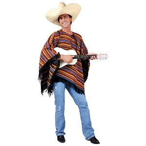 Bristol Novelty Multi Mexican Poncho Stripey Ff 54 Adult Costume - Men's - One Size