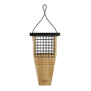 Natures Way Bird Tail-Prop Suet Feeder 14X7.875X3 In Cedar CWF1