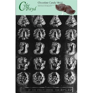 Cybrtrayd C161 Bite Size Assorted X-Mas Life of the Party Chocolate Candy Mold with Exclusive...