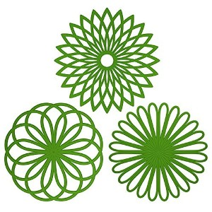 ME.FANTM Silicone Multi-Use Flower Trivet Mat(set of 3 Pack) Premium Quality Insulated Flexible...