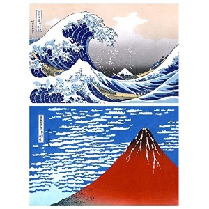 Buttonsmithテつョ Katsushika Hokusai Great Wave Japanese Art Magnet Set by Henry the Buttonsmith