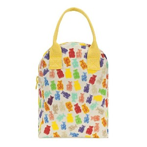 FLUF ZLU-GUM-02 Gummies Zipper Lunch Bag, Regular, Multicolor by Fluf