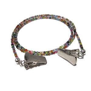 32 Colors Holder for Glasses with Silver Clips - Eyeglass Necklace with Silver Clips by ATLanyards