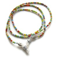 Silk Rose Women's Eyeglass Beaded Chain and Badge Holder for IDs and Cards, Multicolor by Silk Rose