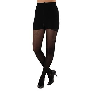 Lux Sheer Support Pantyhose - Firm Compression 20-30mmHg Medium Black Closed Toe by Absolute Support