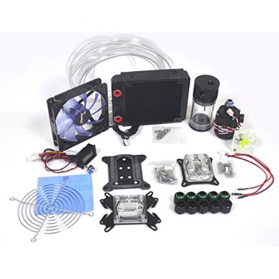120 Water Cooling Complete Kit 水冷オールインワンキット 120 Radiator ラジエーター 140mm Reservoir リザーバー CPU & GPU...