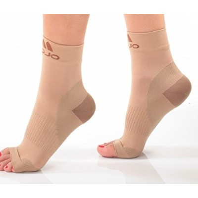 Mojo Compression Plantar Fasciitis Foot Sleeves XFirm Graduated Support-Medium, Beige by Mojo...