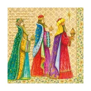 "クリスマスペーパーLuncheon Napkins 2 X 20ピース13 "" x13 "" Three Wise Men"
