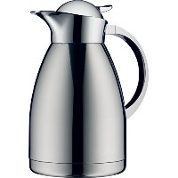 Alfi Albergo Top Therm真空断熱カラフェfor Hot and Cold Beverages、1L、ステンレススチール 1.5 Liter