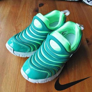 ナイキ あす楽対応 20 21 22cm  ダイナモ フリー PS 343738 308 NIKE DYNAMO FREE PS (308)illusion green/pure platinum...