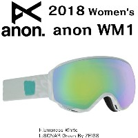Anon 17-18 WM1Goggle Empress White/SONAR Green By ZEISS 19175100114 ゴーグル Goggle レンズ スノーボード BURTON...
