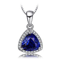 JewelryPalace 2.5ct エレガント サファイア ネックレス ペンダント スターリング シルバー925 チェーン 45cm