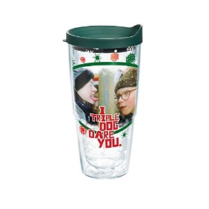 Tervis 1163381Tumbler withハンターグリーン蓋、24-ounce、クリスマスストーリーDare You
