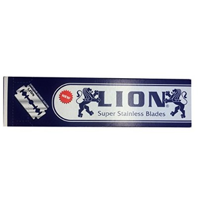 Lion Super Stainless 両刃替刃 100枚入り(5枚入り20 個セット)【並行輸入品】