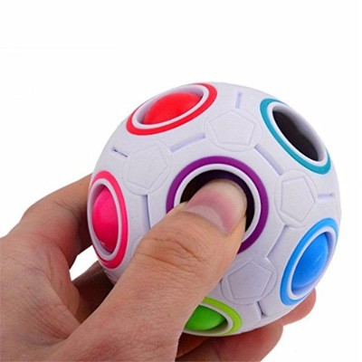 Vibola Stress Reliever Rainbow Magic Ball Plastic Cube Twist Puzzle Toys For Children's Educational...