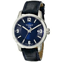 ティソ Tissot 腕時計 メンズ 時計 Tissot Men's TIST0554101604700 PRC 200 Stainless Steel Watch with Blue...