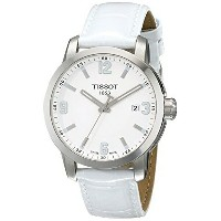 ティソ Tissot 腕時計 メンズ 時計 Tissot Men's TIST0554101601700 PRC 200 Analog Display Swiss Quartz White Watch