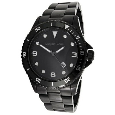 マイケルコース Michael Kors メンズ 腕時計 時計 Michael Kors Black Ion-plated Stainless Steel Mens Watch MK7057