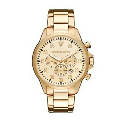 マイケルコース Michael Kors メンズ 腕時計 時計 Michael Kors Men' sGage Gold-Tone Watch MK8491