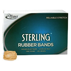 Sterling Ergonomically Correct Rubber Band, #12, 1-3/4 x 1/16, 3400/1lb Box (並行輸入品)