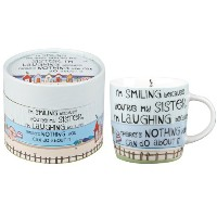 The Good Life Laughing Sister Mug in Gift Box by Life Is Good