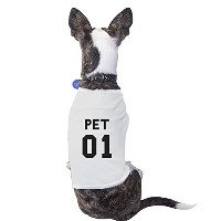 Pet 01 White Pet Tee Funny Dog Owner Shirt Gift For Small Dog ONLY