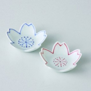 波佐見焼 桜 箸置(青) 箸置き 5個セット Japanese porcelain Hasami ware. Set of 5 blue cherry blossom chopstick spoon...